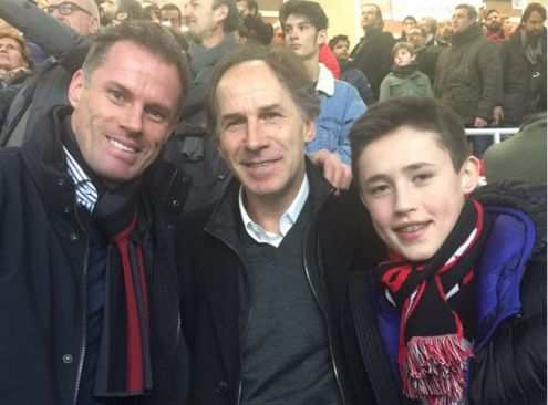 Jamie Carragher et Franco Baresi