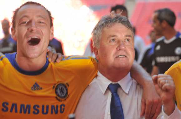 John Terry et Guus Hiddink