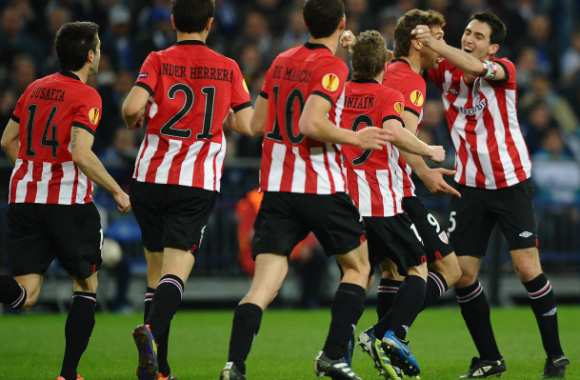 Joie de l'Athletic Bilbao, contre Schalke 04