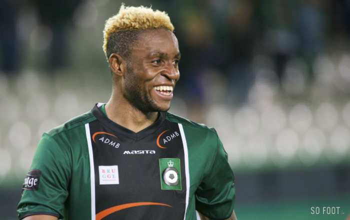 """<strong class=""""highlight-text"""">Junior Kabananga</strong>, sous le maillot du Cercle Bruges"""