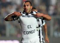 Carlos Tevez apr�s son but face � l'Atalanta