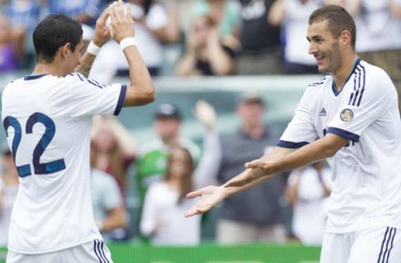 Karim Benzema et Angel Di Maria (Real Madrid)