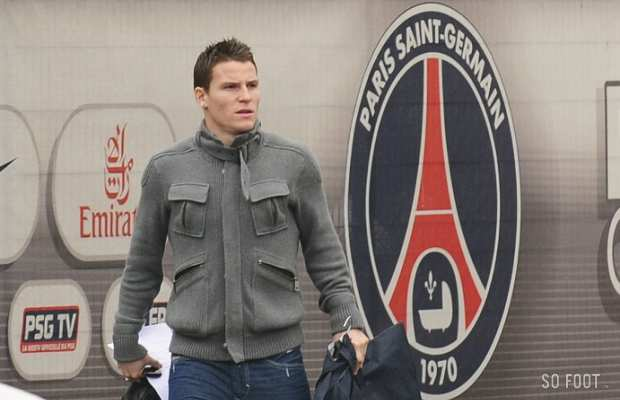 K�vin Gameiro, sur le parking du Camp des Loges