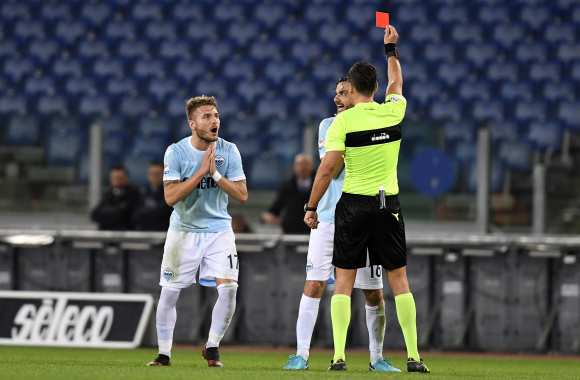 L'expulsion folle de Ciro Immobile.