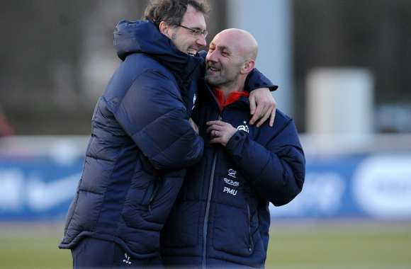 Laurent Blanc et Fabien Barthez