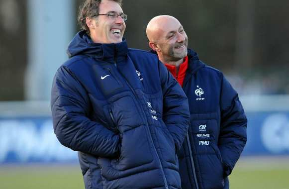 Laurent Blanc et Fabien Barthez (Equipe de France)