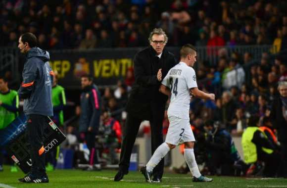 Laurent Blanc et Marco Verratti