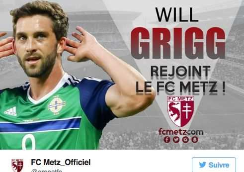 Le canular Will Grigg au FC Metz