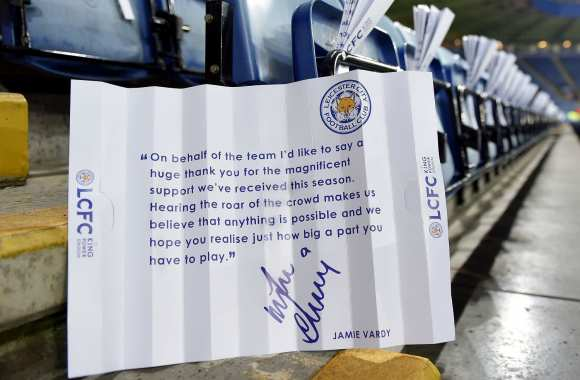 Le message de Vardy aux supporters