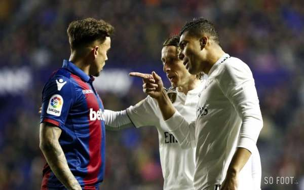 Le Real Madrid chute à Levante