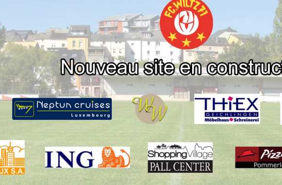 Le site internet en construction du FC Wiltz