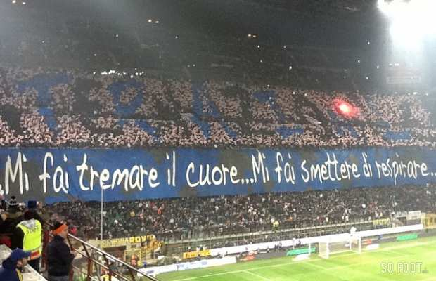 Le tifo des supporters de l'Inter