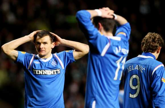 Lee McCulloch et Kyle Lafferty (Rangers)