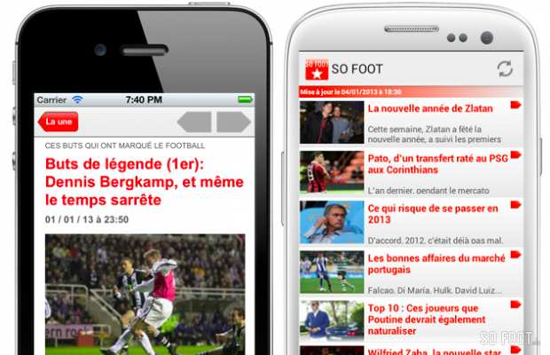 Les apps mobiles SO FOOT sont disponibles