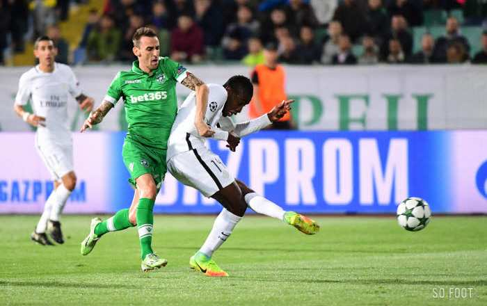 Les notes de Ludogorets-PSG