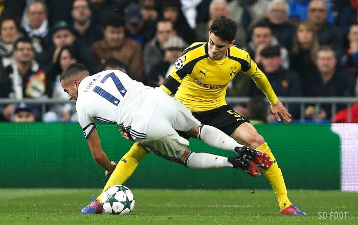 Les notes de Real-Dortmund