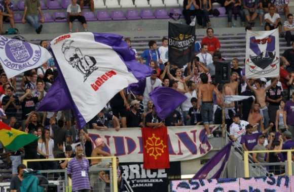 Les supporters toulousains au Stadium.