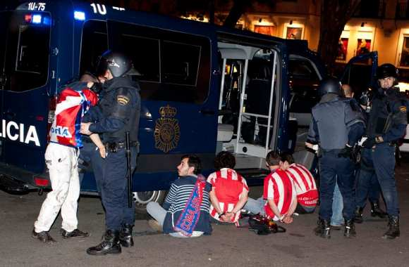Ligue Europa : arrestations à Madrid