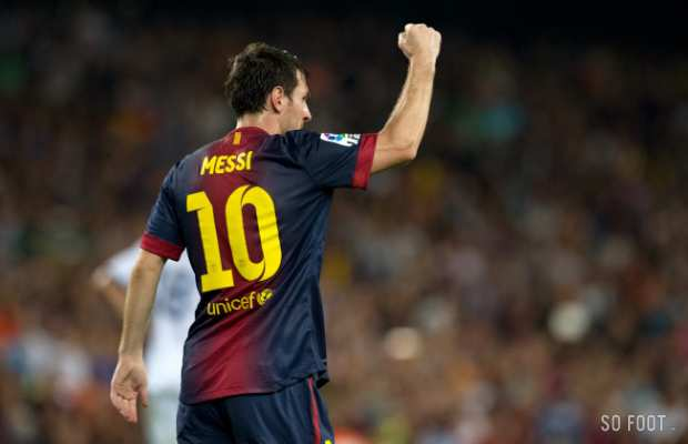 Lionel Messi court apr�s son quatri�me Ballon d'Or