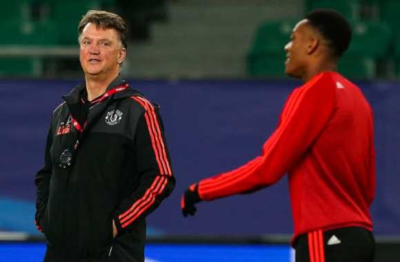 Louis van Gaal et Anthony Martial