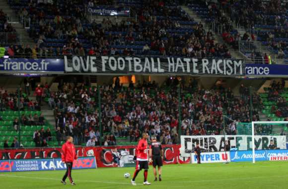 Love football, hate racism.