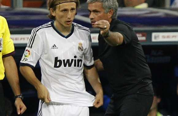 Luka Modric (Real Madrid) et son ancien coach Jose Mourinho