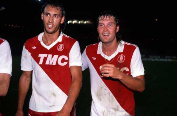 Mark Hateley et Glenn Hoddle, en 1987