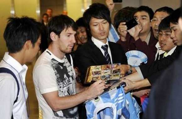 Messi d'aplomb au Japon