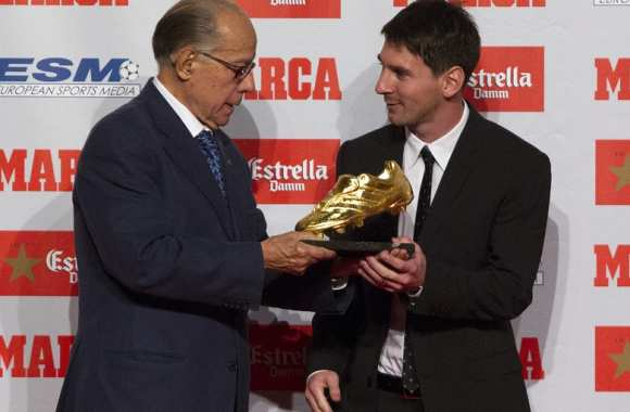 Messi Soulier d'or 2012