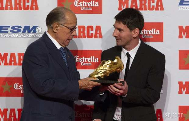 Messi Soulier d�or 2012