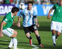 Messi vomit contre la Bolivie