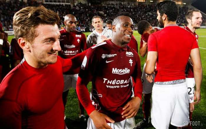 Metz en Ligue 1 in extremis, Évian en National