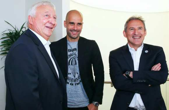 Mike Summerbee, Pep Guardiola et Txiki Begiristain