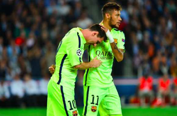Neymar, Ballon d'or pour Messi