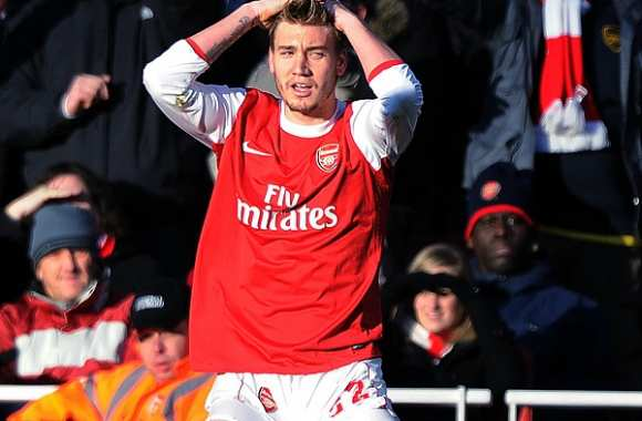Nicklas Bendtner avec Arsenal en 2011