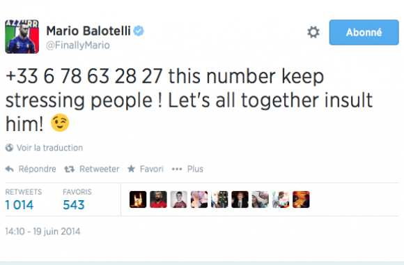 On a appelé le pote de Balotelli...