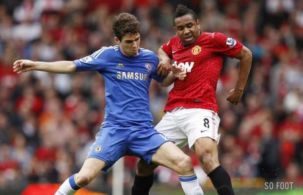 Oscar (Chelsea) versus Anderson (Manchester United)