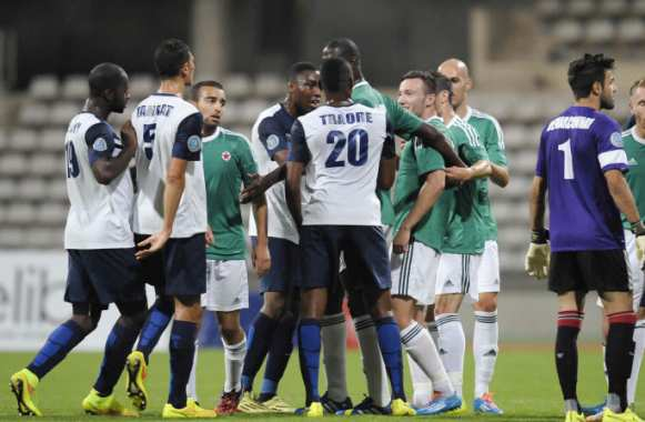 Paris FC/Red Star, en septembre 2014