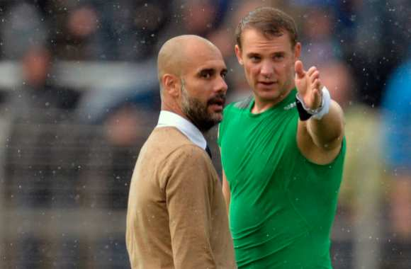 Pep Guardiol et Manuel Neuer