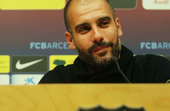 Pep Guardiola, coach de Barce...euh du Bayern Munich