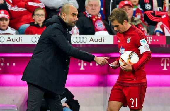 Pep Guardiola et Philipp Lahm