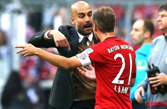 Pep Guardiola et Phillip Lahm