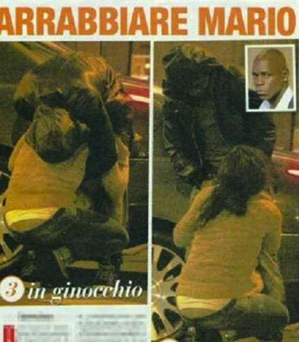 Tabloid Gold Pictures: Mario Balottelis sister, Abigail, gives Obafemi Martins a BJ in public