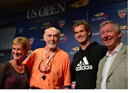 Photo: Alex Ferguson et Andy Murray