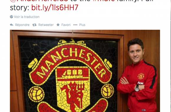 Photo : Ander Herrera à MU