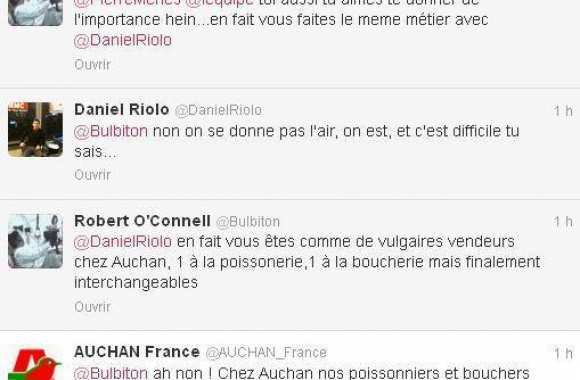 Photo : Auchan tweete avec Ménès