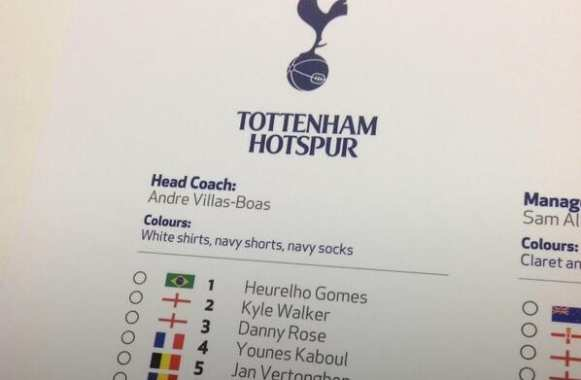 Photo : AVB sur la feuille de match