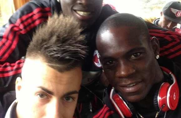 Photo : Balotelli affiche Niang