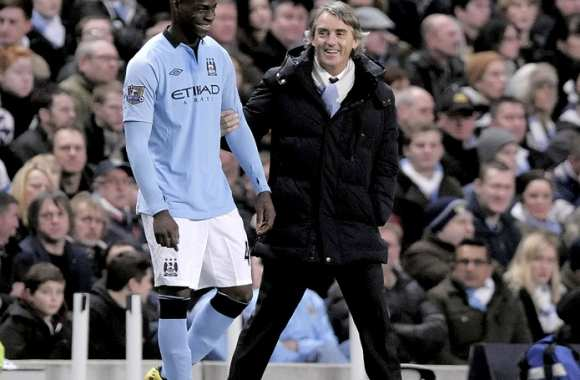Photo : Balotelli et Mancini rigolent