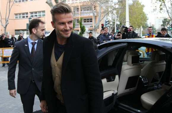 Photo: Beckham à Valence